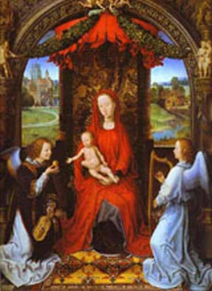 madonna and child with two angels XX galleria degli uffizi florence italy